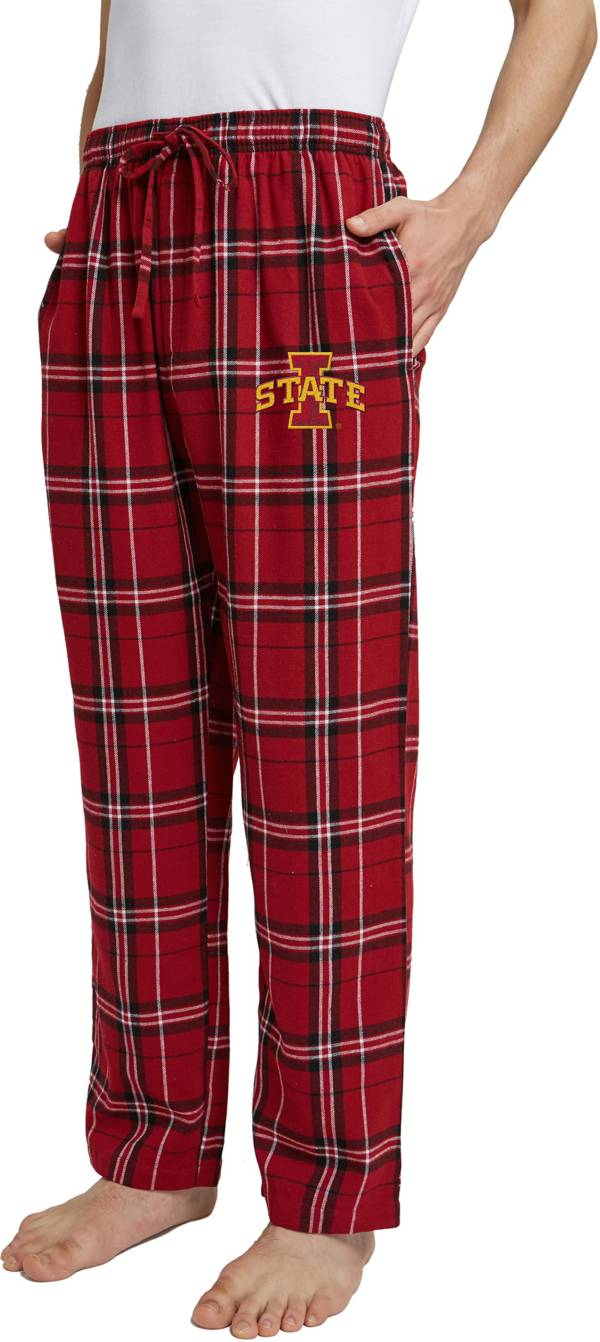Concepts Sport Men's Iowa State Cyclones Cardinal/White Hillstone Flannel Sleep Pants product image