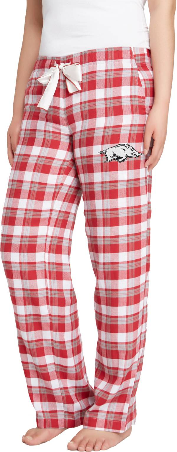 Concepts Sport Women's Arkansas Razorbacks Cardinal/Grey Piedmont Flannel Sleep Pants product image