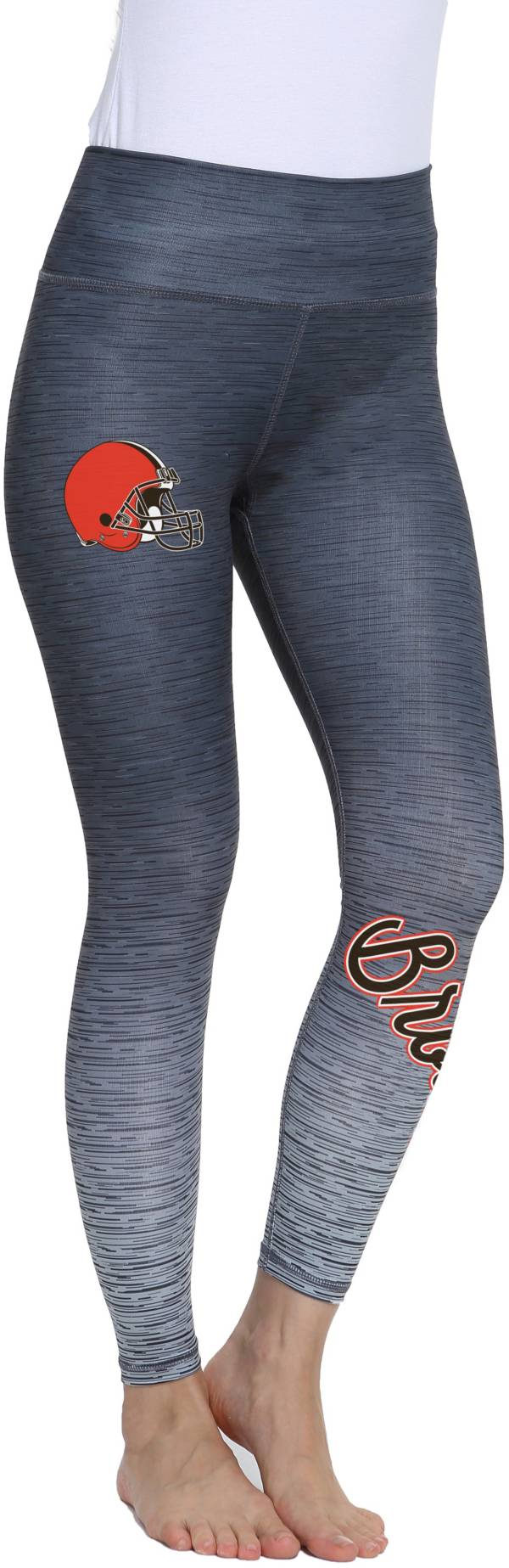 Concepts Sport Women's Cleveland Browns Flyaway Charcoal Leggings product image
