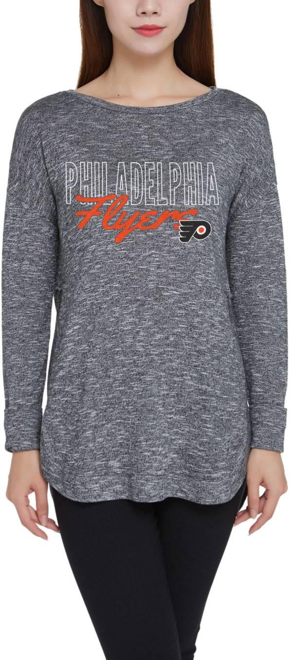 Concepts Sport Women's Philadelphia Flyers Marble Heather Grey Long Sleeve T-Shirt product image