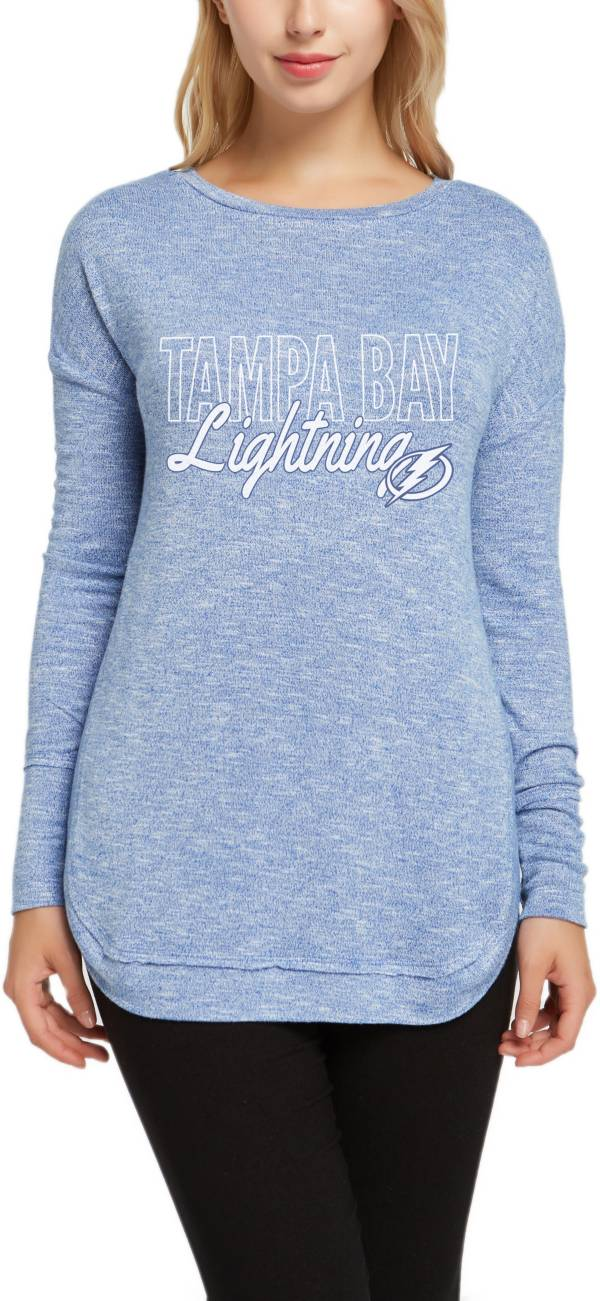 Concepts Sport Women's Tampa Bay Lightning Marble Royal Heathered Long Sleeve T-Shirt product image