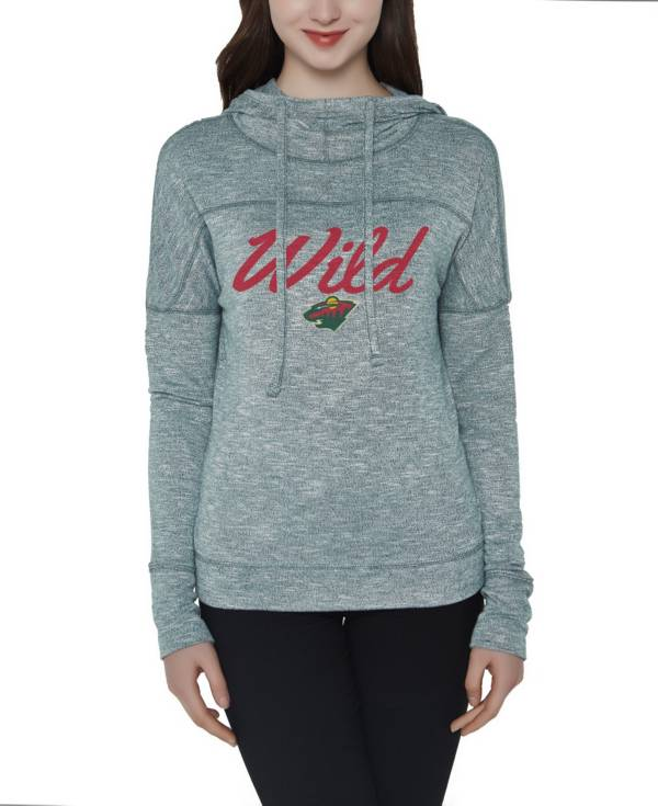 Concepts Sport Women's Minnesota Wild Marble Green Heathered Pullover Hoodie product image