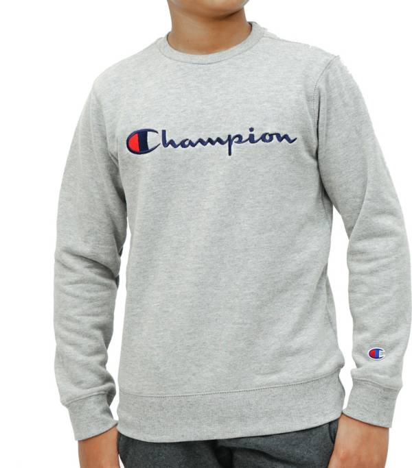 Champion Boy's Script Fleece Crewneck Sweatshirt product image