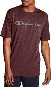 Champion Mens Double Dry Graphic Heather Tee T-Shirt