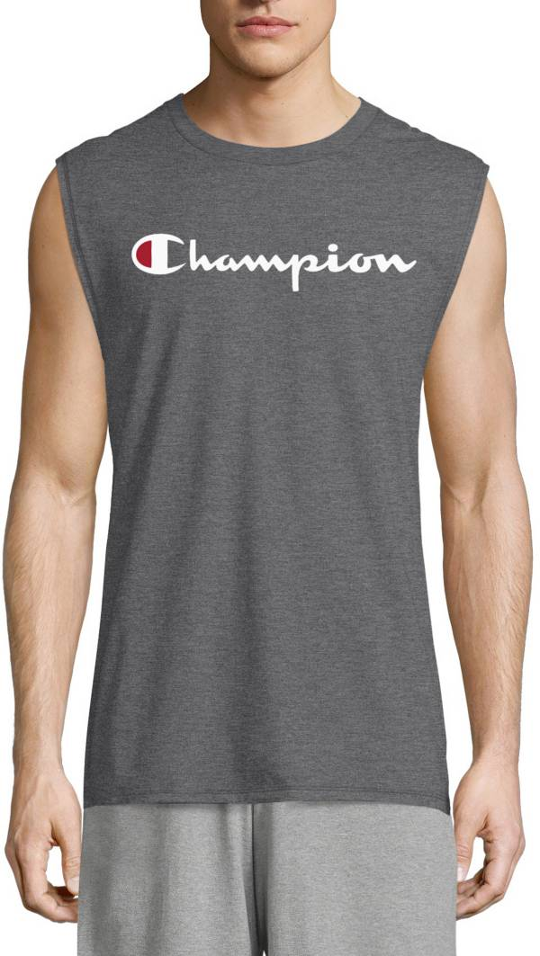 Champion Men's Classic Jersey Script Logo Graphic Muscle Tank Top product image