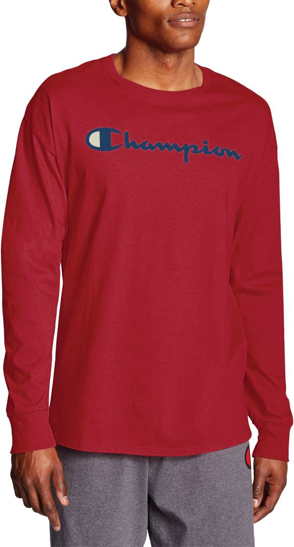 Champion Men's Classic Jersey Script Logo Graphic Long Sleeve Shirt product image