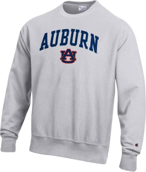 Champion Men's Auburn Tigers Grey Reverse Weave Crew Sweatshirt product image