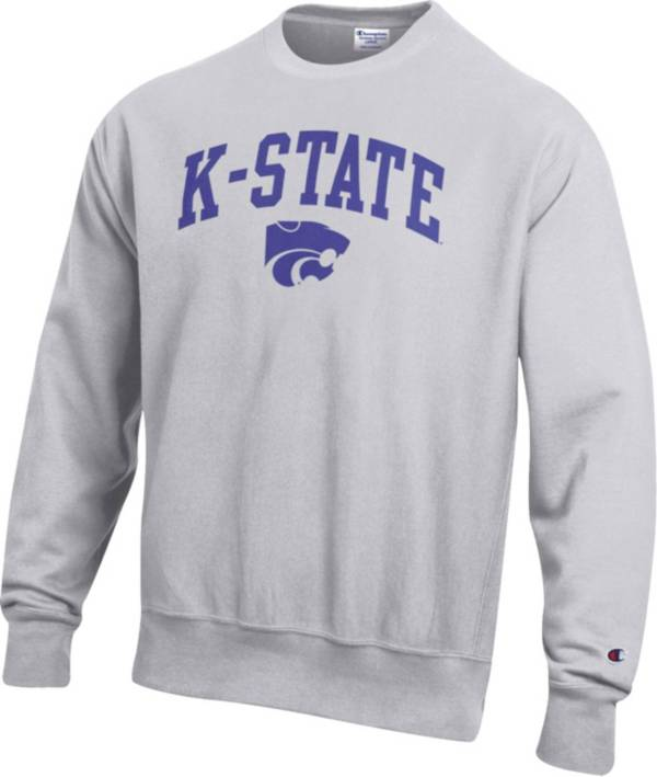 Champion Men's Kansas State Wildcats Grey Reverse Weave Crew Sweatshirt product image
