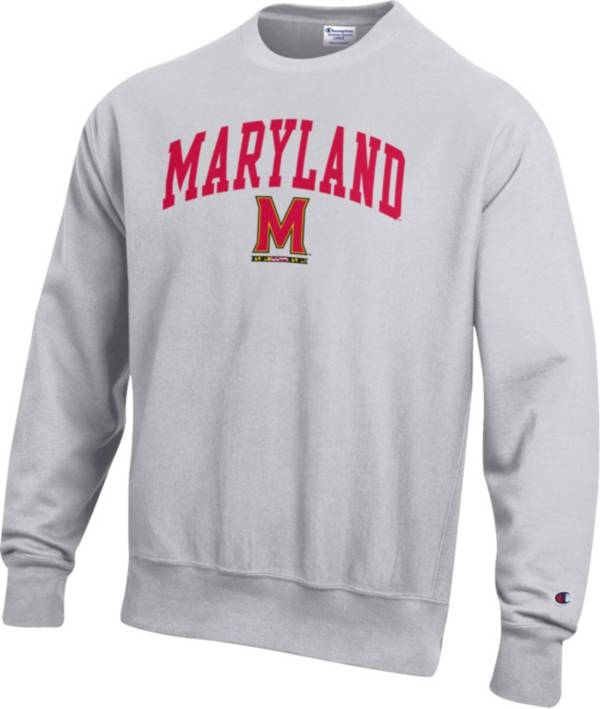 Champion Men's Maryland Terrapins Grey Reverse Weave Crew Sweatshirt product image