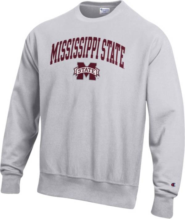 Champion Men's Mississippi State Bulldogs Grey Reverse Weave Crew Sweatshirt product image