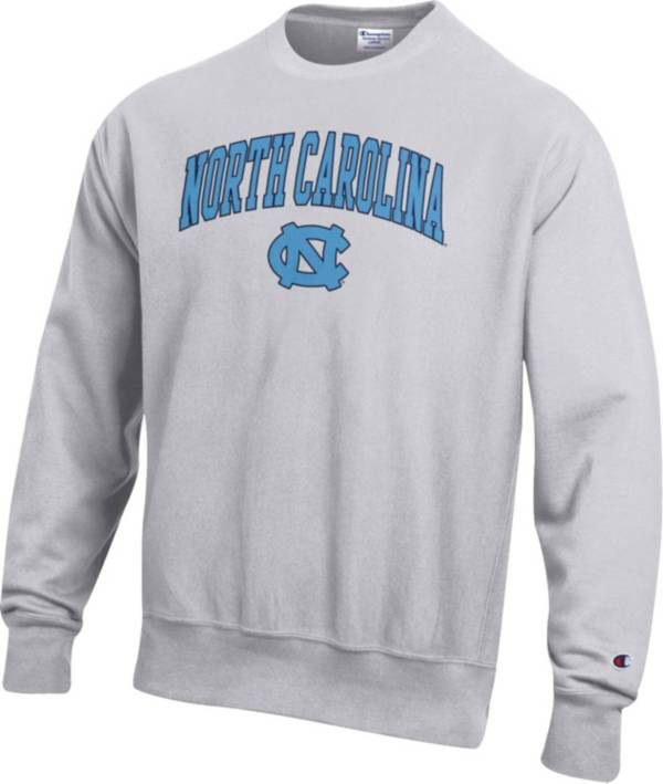 Champion Men's North Carolina Tar Heels Grey Reverse Weave Crew Sweatshirt product image