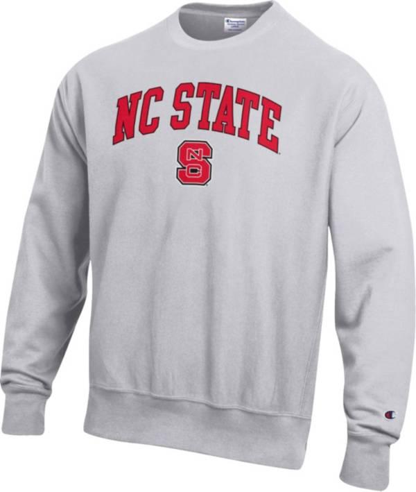 Champion Men's NC State Wolfpack Grey Reverse Weave Crew Sweatshirt product image