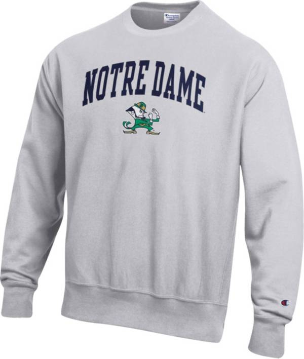 Champion Men's Notre Dame Fighting Irish Grey Reverse Weave Crew Sweatshirt product image