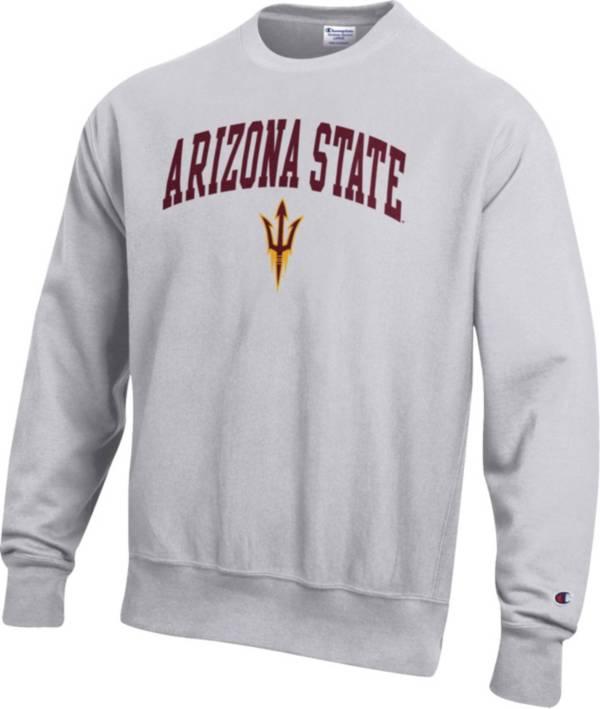 Champion Men's Arizona State Sun Devils Grey Reverse Weave Crew Sweatshirt product image