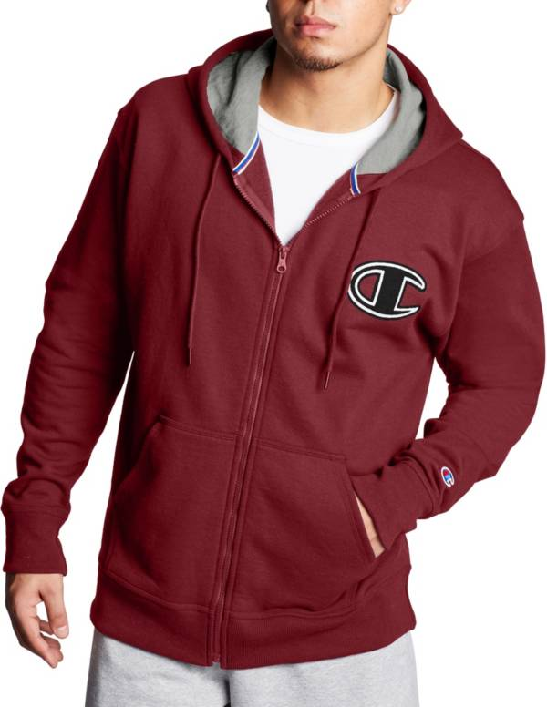 Champion Men's Powerblend Fleece Chainstitch Outline C Logo Full Zip Hoodie product image
