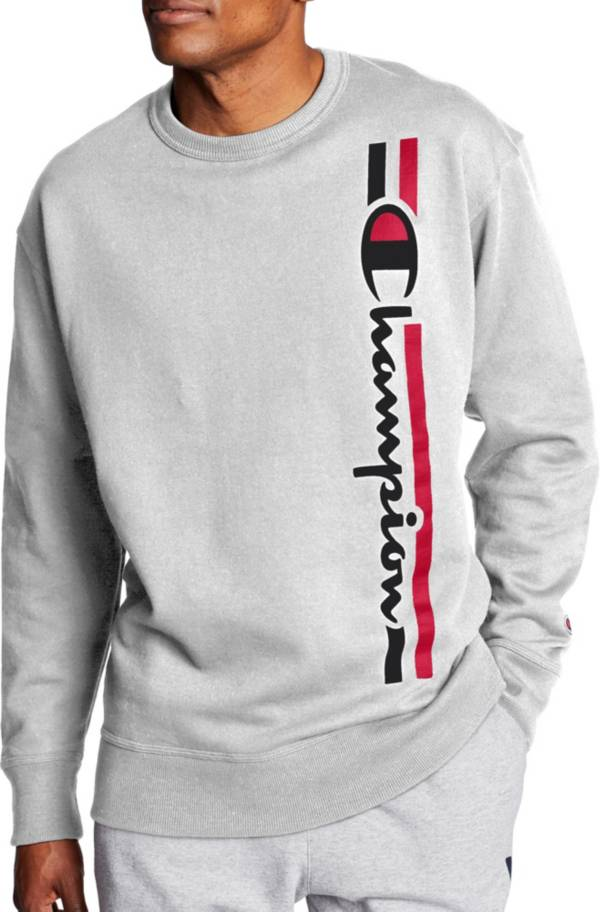 Champion Men's Powerblend Vertical Script Crewneck Sweatshirt product image