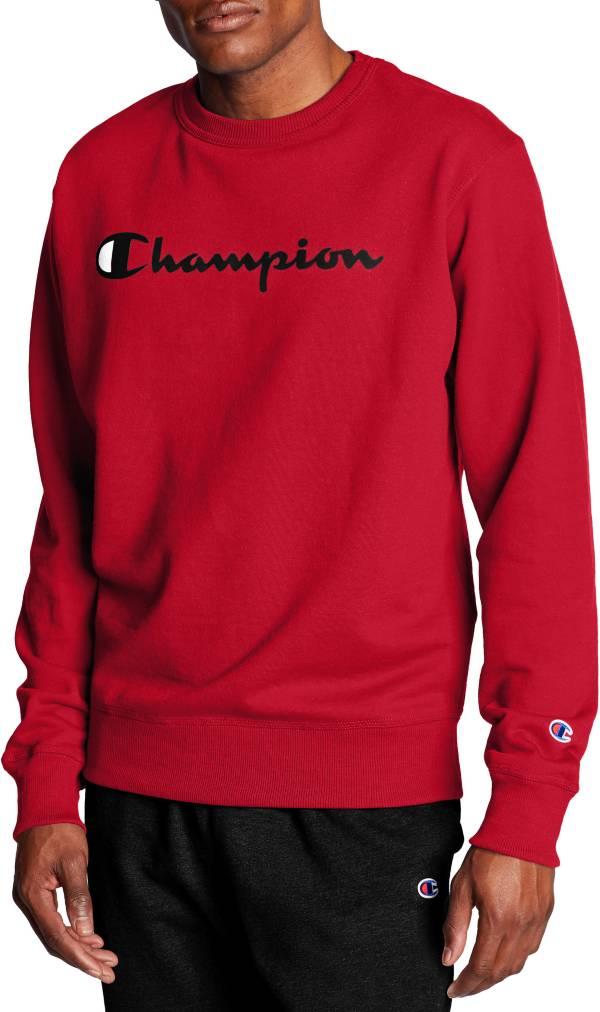 Champion Men's Powerblend Fleece Script Logo Crewneck Sweatshirt product image