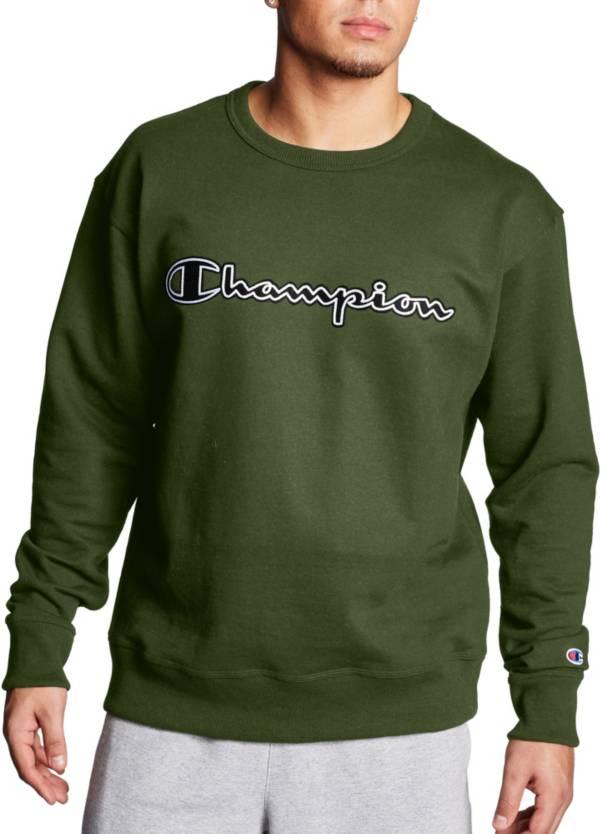 Champion Men's Powerblend Fleece Script Logo Applique Crewneck Sweatshirt product image