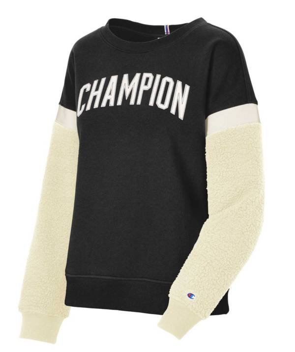 Champion Women's Heritage Sherpa  Block Crew Pullover product image