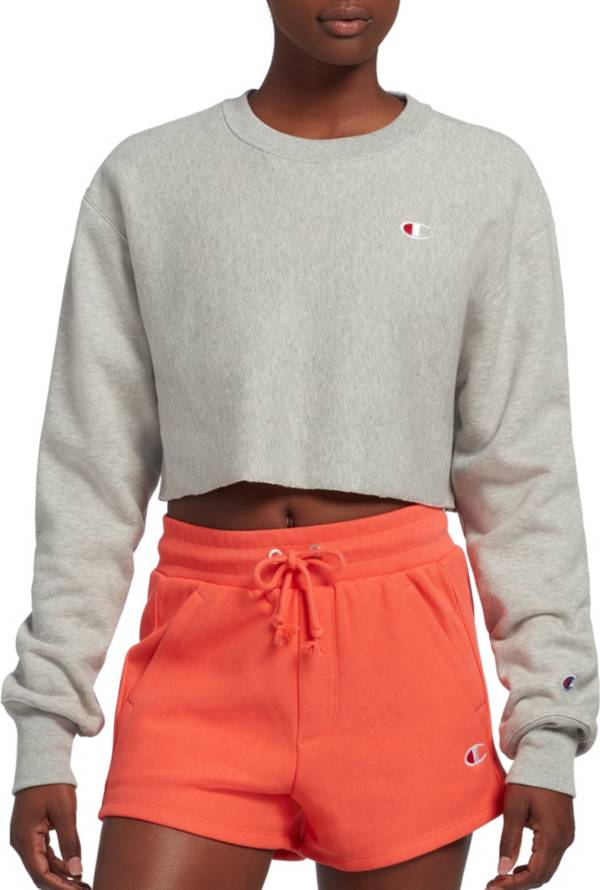Champion Women's Cropped Cut-Off Crew Top product image