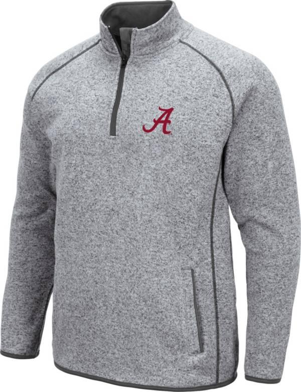 Colosseum Men's Alabama Crimson Tide Grey Amur Quarter-Zip Shirt product image