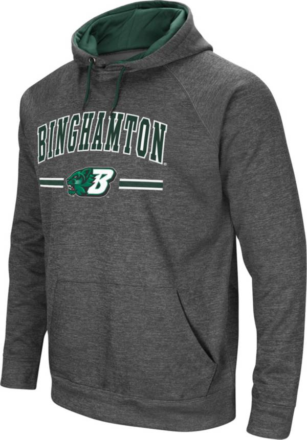 Colosseum Men's Binghamton Bearcats Grey Pullover Hoodie product image