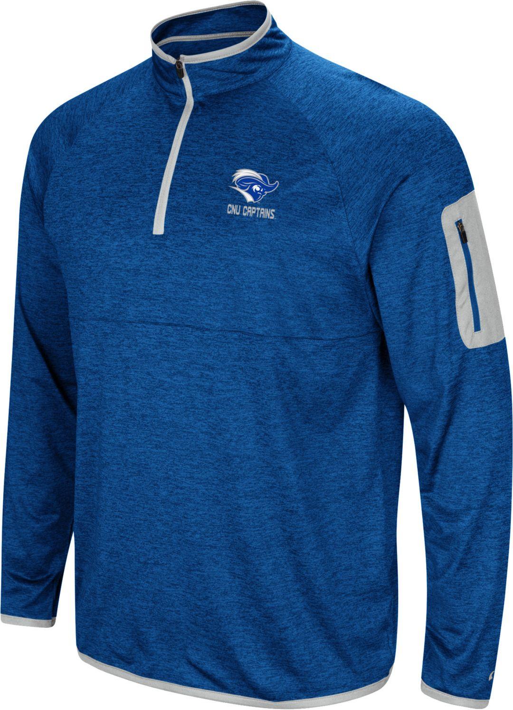 super popular 99b97 b48a4 Colosseum Men's Christopher Newport Captains Royal Blue Indus River  Quarter-Zip Shirt