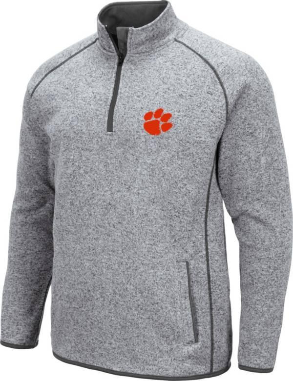 Colosseum Men's Clemson Tigers Grey Amur Quarter-Zip Shirt product image