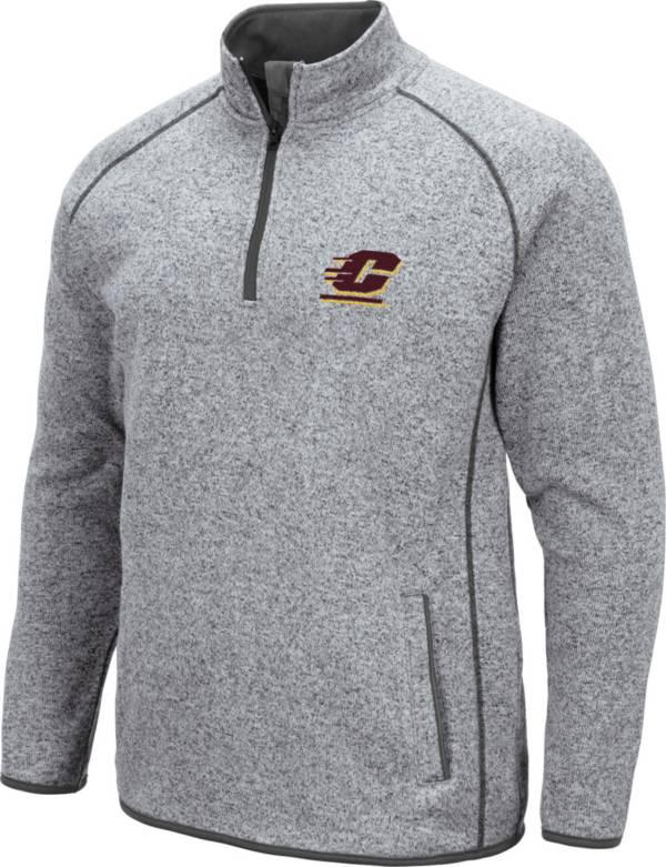 Colosseum Men's Central Michigan Chippewas Grey Amur Quarter-Zip Shirt product image