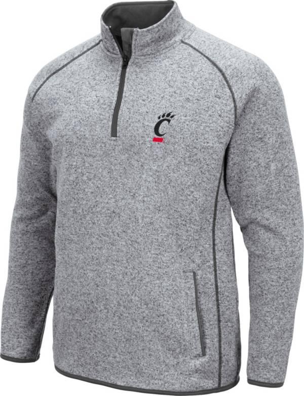Colosseum Men's Cincinnati Bearcats Grey Amur Quarter-Zip Shirt product image