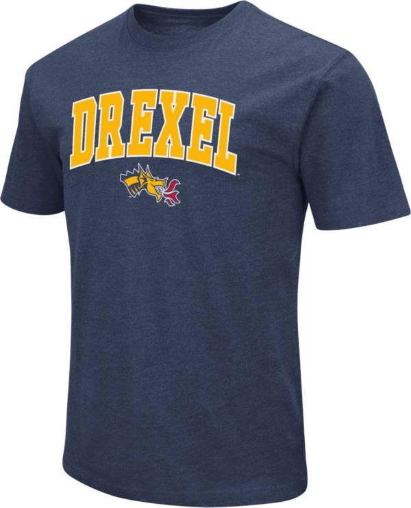 Colosseum Men's Drexel Dragons Blue Dual Blend T-Shirt product image