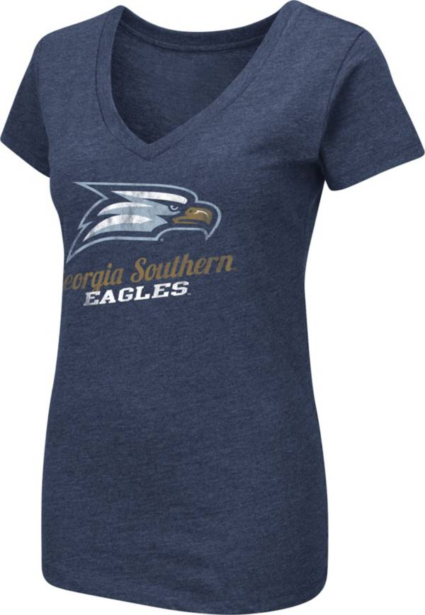 Colosseum Women's Georgia Southern Eagles Navy Dual Blend V-Neck T-Shirt product image