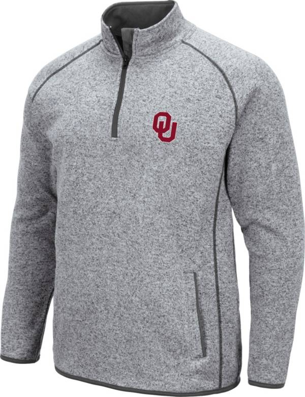 Colosseum Men's Oklahoma Sooners Grey Amur Quarter-Zip Shirt product image