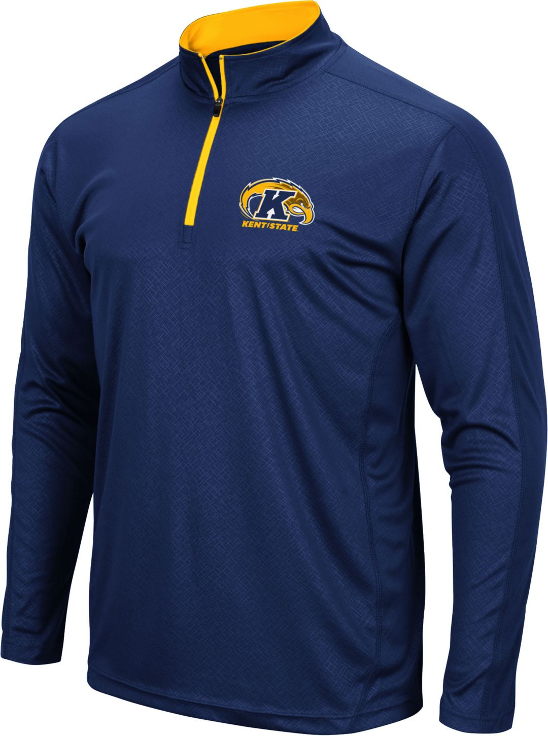 first rate 290db 64706 Colosseum Men's Kent State Golden Flashes Navy Blue Loggerhead Quarter-Zip  Shirt