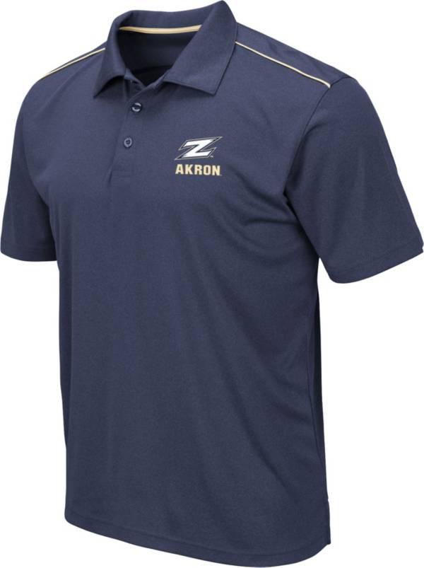 Colosseum Men's Akron Zips Navy Eagle Polo product image