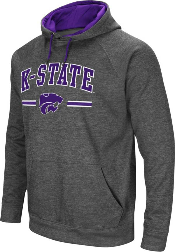 Colosseum Men's Kansas State Wildcats Grey Pullover Hoodie product image