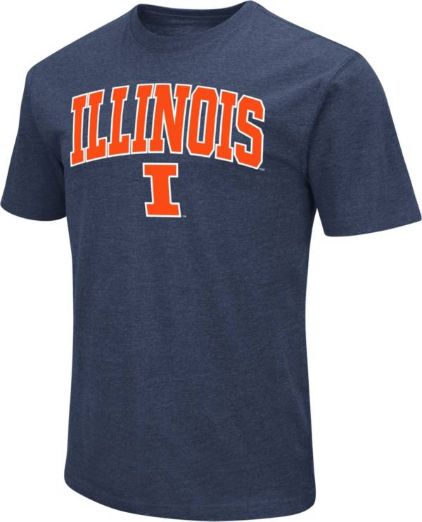 Colosseum Men's Illinois Fighting Illini Blue Dual Blend T-Shirt product image