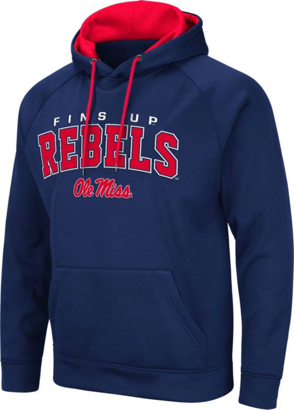 Colosseum Men's Ole Miss Rebels Blue Pullover Hoodie product image