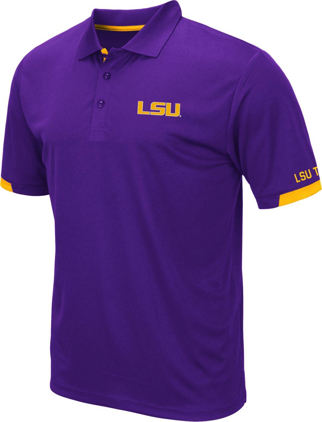 00f9ba254014 Colosseum Men's LSU Tigers Purple Fairway Polo | DICK'S Sporting Goods