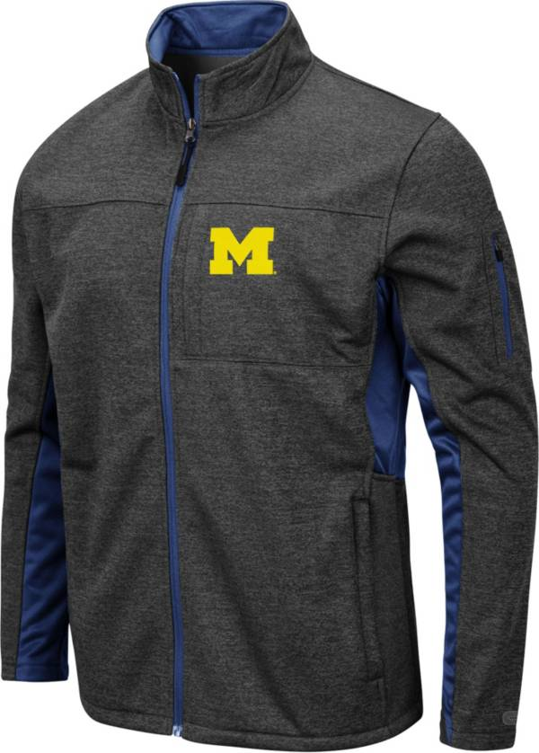 Colosseum Men's Michigan Wolverines Grey Bumblebee Man Full-Zip Jacket product image