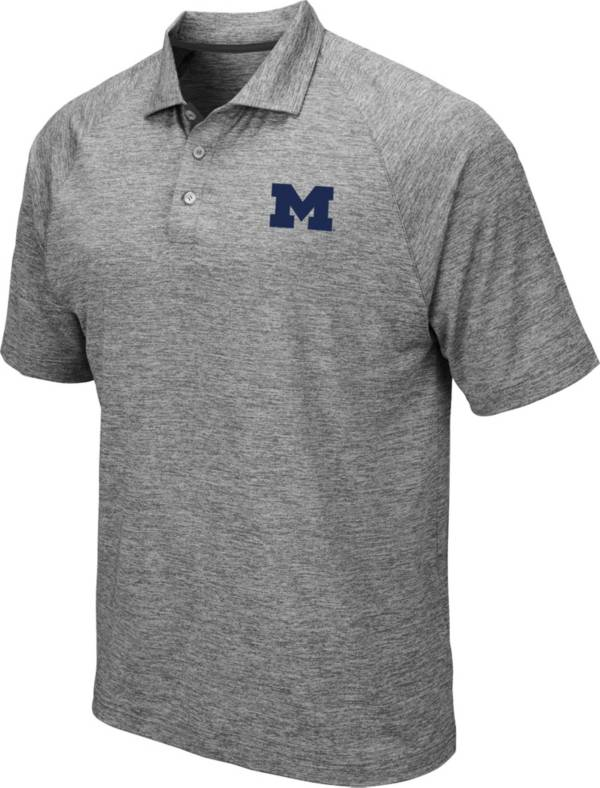 Colosseum Men's Michigan Wolverines Grey Chip Shot Polo product image