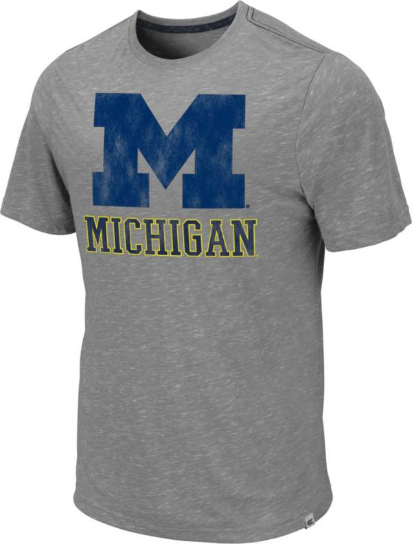Colosseum Men's Michigan Wolverines Grey Campinas T-Shirt product image