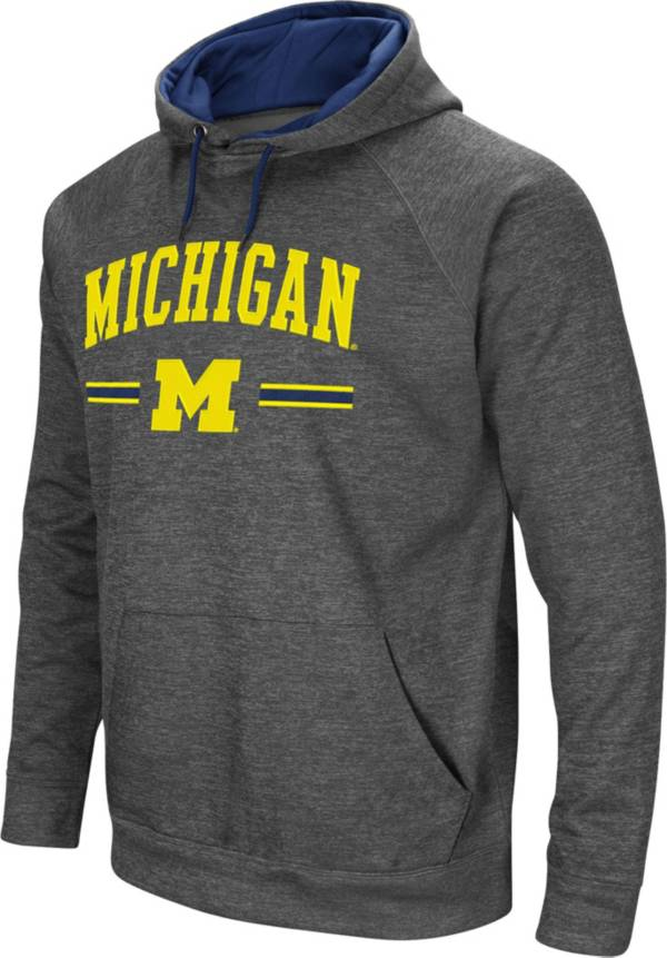 Colosseum Men's Michigan Wolverines Grey Pullover Hoodie product image