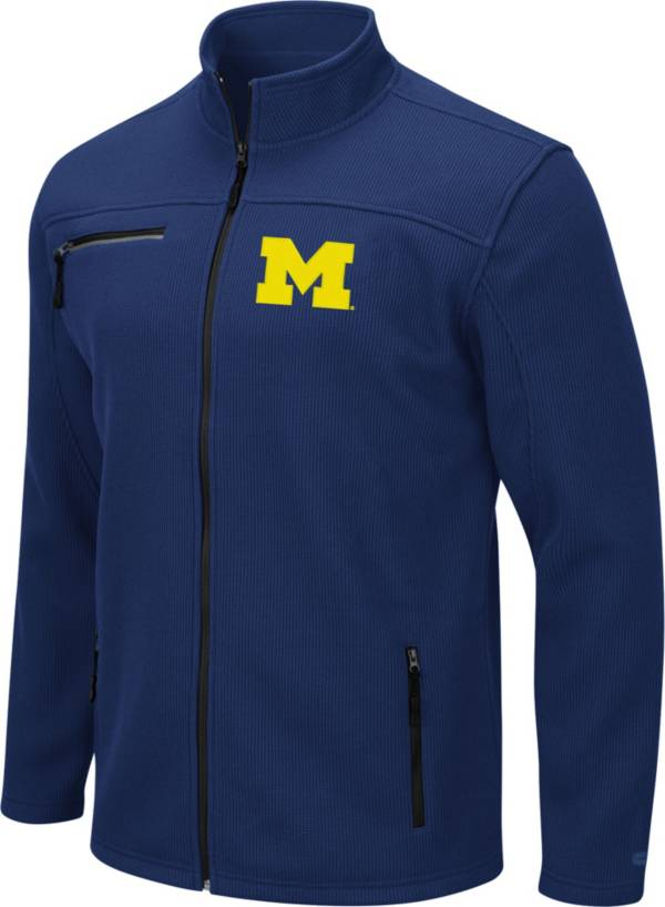 Colosseum Men's Michigan Wolverines Blue Willie Full-Zip Jacket product image
