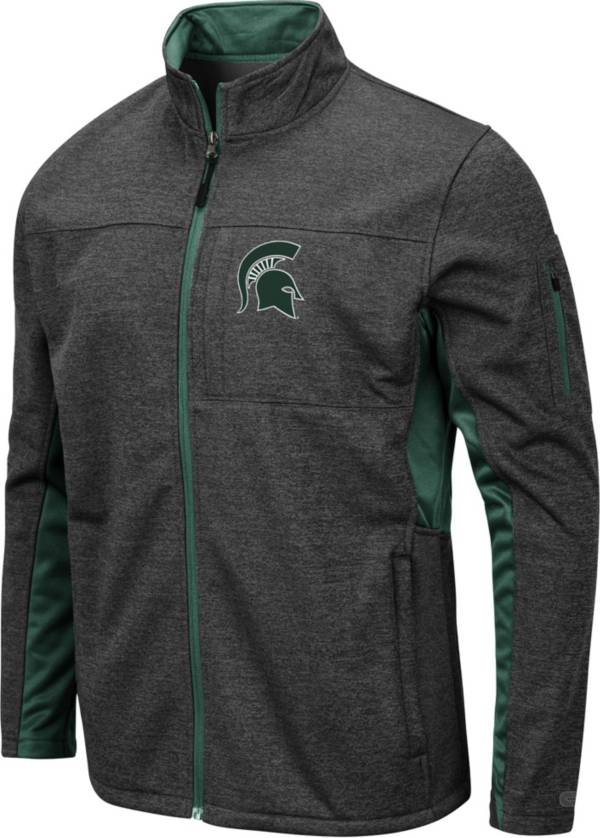 Colosseum Men's Michigan State Spartans Grey Bumblebee Man Full-Zip Jacket product image