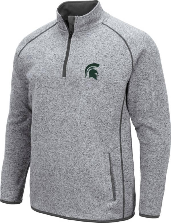 Colosseum Men's Michigan State Spartans Grey Amur Quarter-Zip Shirt product image