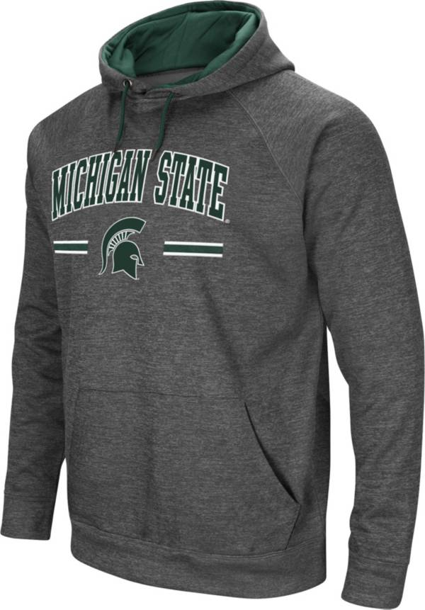 Colosseum Men's Michigan State Spartans Grey Pullover Hoodie product image