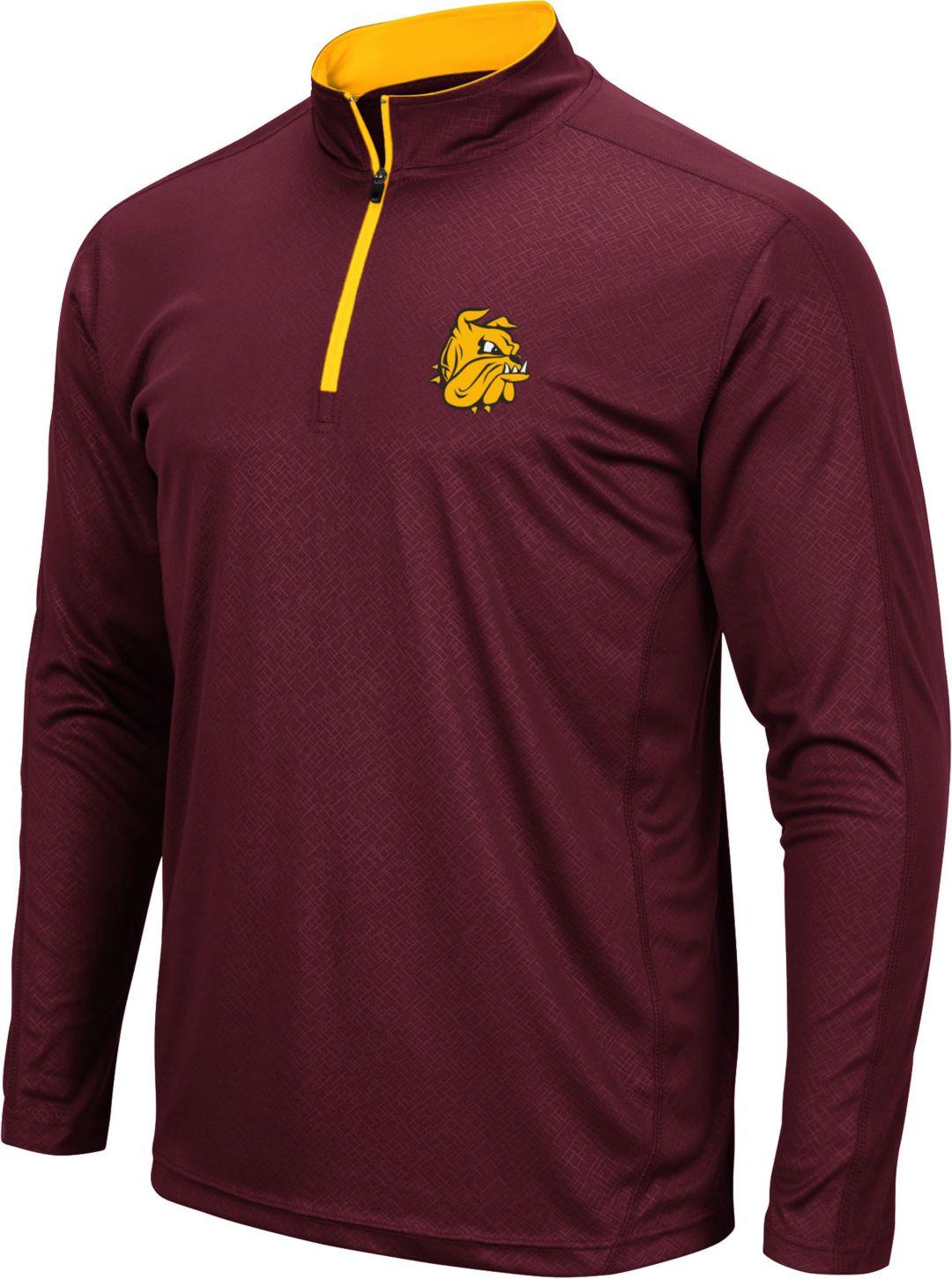 best sneakers 94c3f 1d32d Colosseum Men's Minnesota-Duluth Bulldogs Maroon Loggerhead Quarter-Zip  Shirt