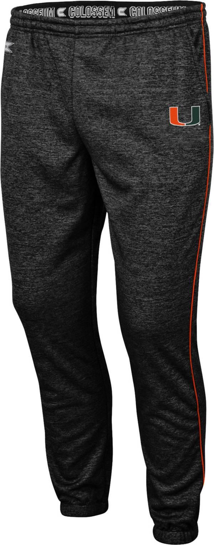 Colosseum Men's Miami Hurricanes Burns Performance Black Pants product image