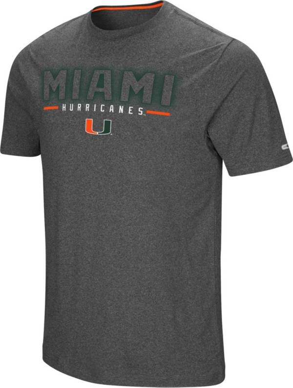Colosseum Men's Miami Hurricanes Grey Bluefin T-Shirt product image